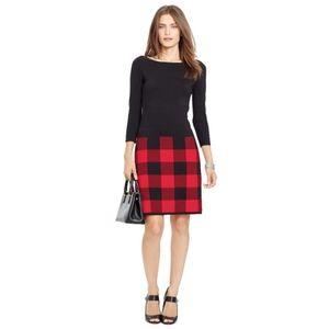 Ralph Lauren Buffalo Check Sweater Dress
